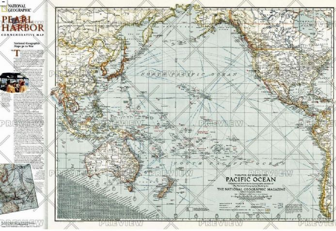 Pacific Ocean Theater of War 1942 - Published 2001 by National Geographic